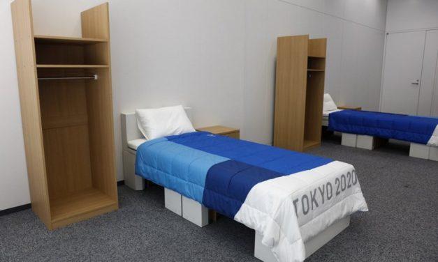 Cardboard beds for Tokyo Athletes Village