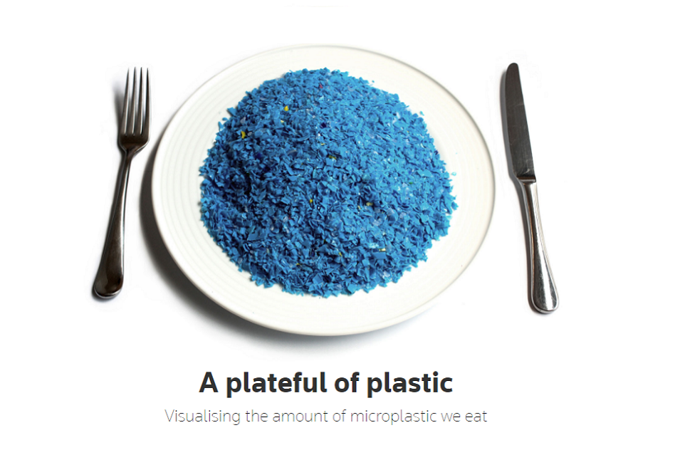 A plateful of plastic