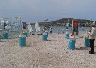 A mobile exhibition on marine litter