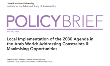 UN University Policy Brief: Local Strategies for the SDGs in the Arab World