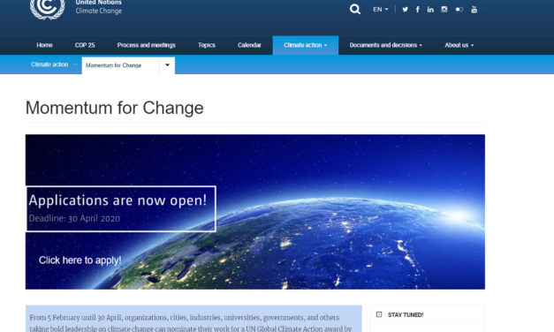 Momentum for Change: Global Climate Action Awards 2020