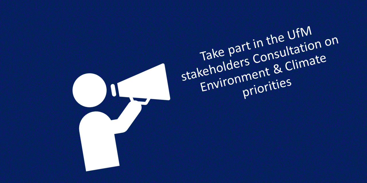 """UfM Stakeholder Consultation """"post-2020 Environment and Climate Action priorities"""""""