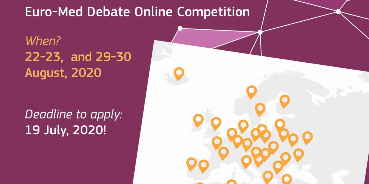 3rd virtual EuroMed debate competition-summer edition