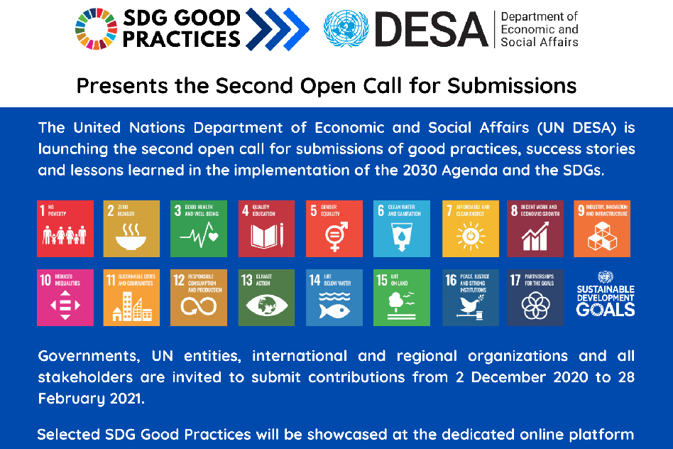 SDG Good Practices: Second Open Call