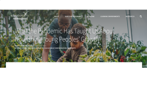 Transforming education, lessons learned from the pandemic