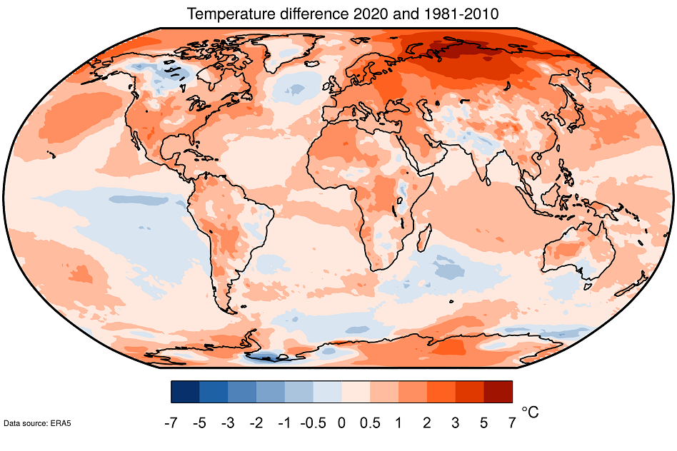 Europe 2020: warmest year on record