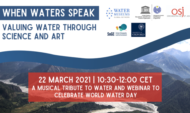 When waters speak event, 22 March 2021