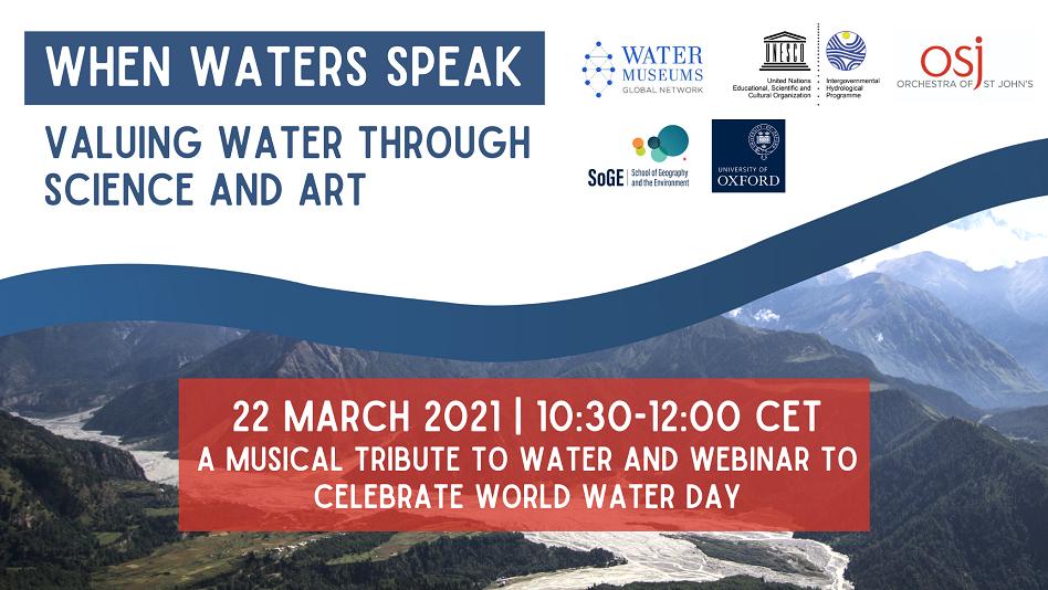 When waters speak event, 22 March 2021