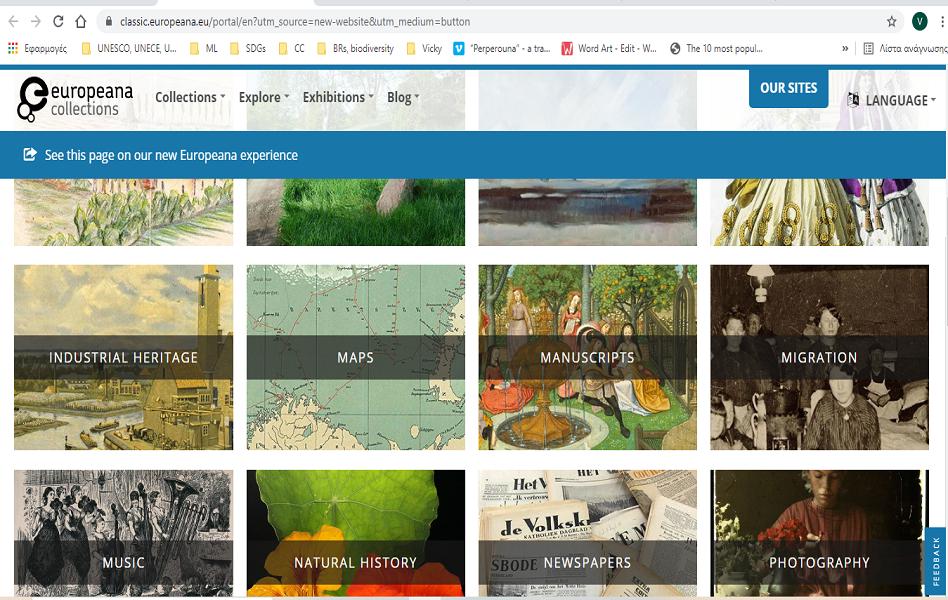 Explore EUROPEANA new platform!