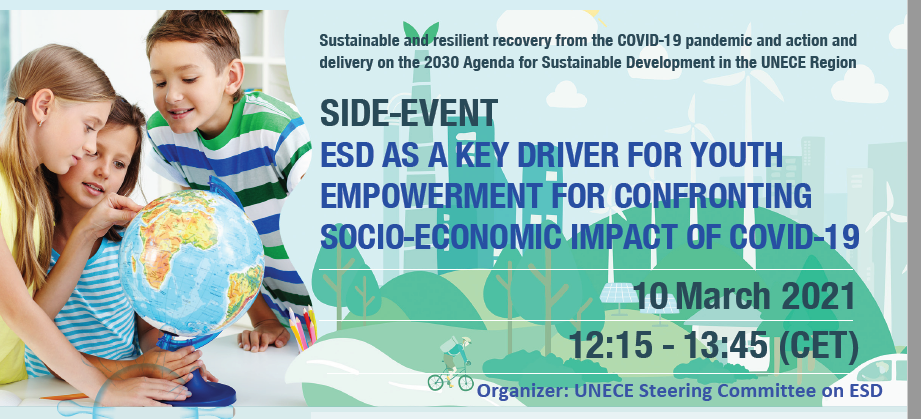 ESD & Empowerment of Youth UNECE Event 10 March 2021