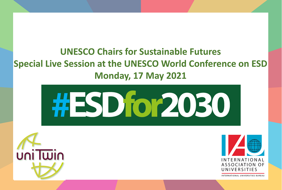 How can UNESCO Chairs contribute to #ESDfor2030?