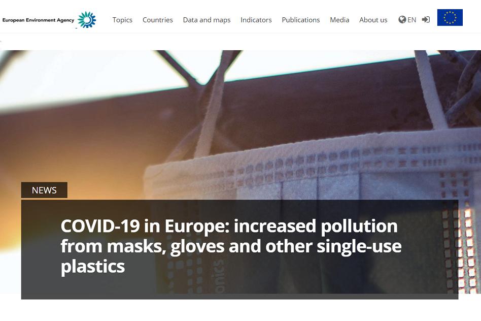 COVID-19 increases the single-use-plastics' pollution in Europe