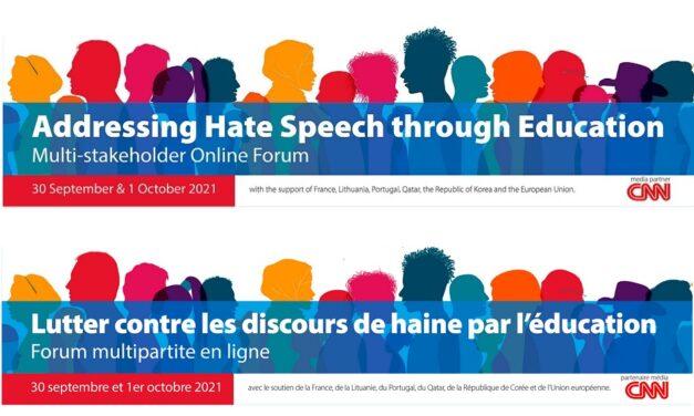 Addressing hate speach through education